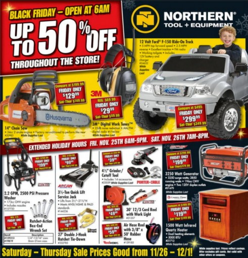 Media Scan for Northern Tool Consumer Catalog Blow-Ins