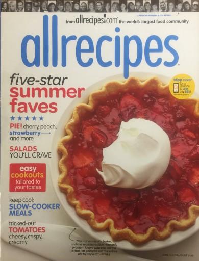 Media Scan for allrecipes magazine