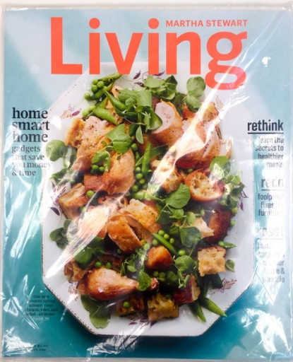 Media Scan for Martha Stewart Living Polybag Onserts