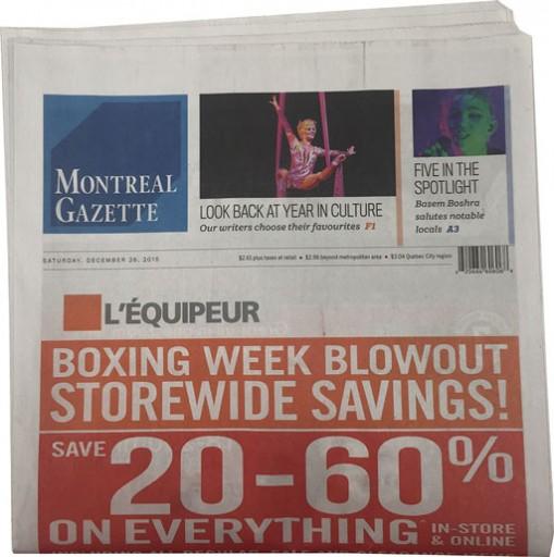Media Scan for Montreal Gazette