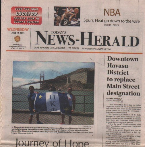 Media Scan for Lake Havasu City Today's News-Herald