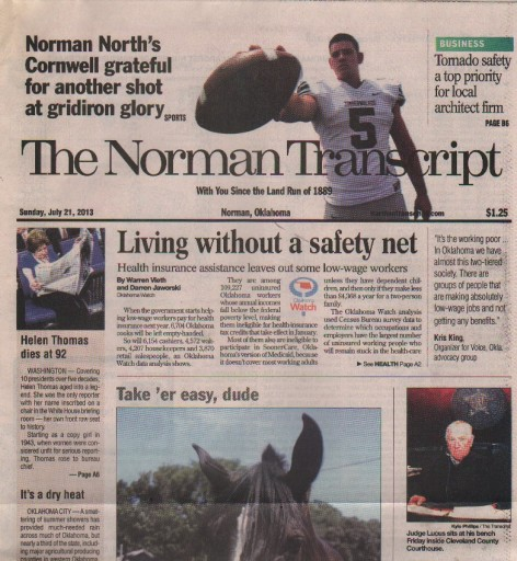 Media Scan for Norman Transcript