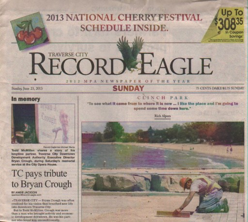 Media Scan for Traverse City Record Eagle
