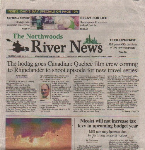 Media Scan for Rhinelander Northwoods River News