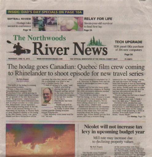 Media Scan for Rhinelander Northwoods River News