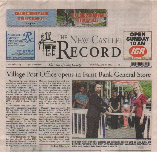 Media Scan for Craig County New Castle Record