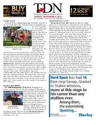 Media Scan for TDN Thoroughbred Daily News