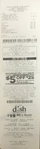 Media Scan for Dollar General Receipt Program