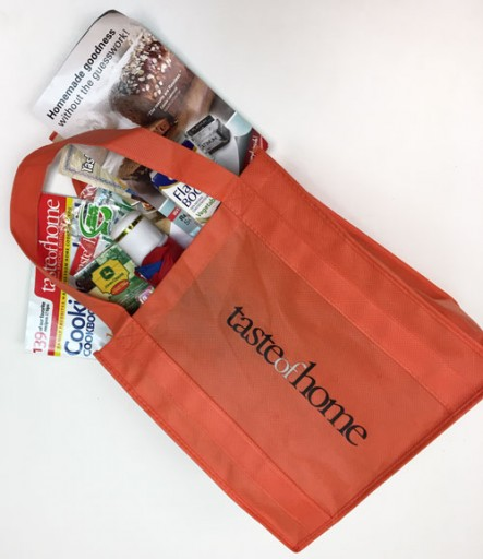 Media Scan for Taste of Home Cooking School Attendee Bags