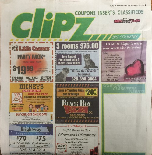 Media Scan for Clipz - Abeline Reporter-News TMC