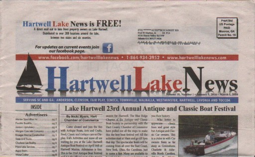 Media Scan for Hartwell Lake News