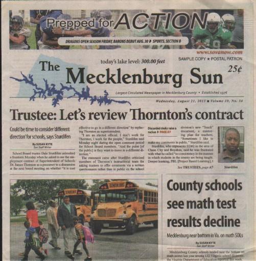 Media Scan for Clarksville Mecklenburg Sun