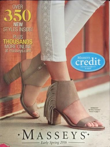 Media Scan for Masseys Credit Catalog Blow-In