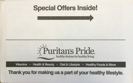 Media Scan for Puritan's Pride Package Insert Program