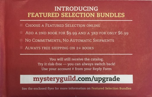 Media Scan for Bookspan Mystery Guild Book Club Ride-Along