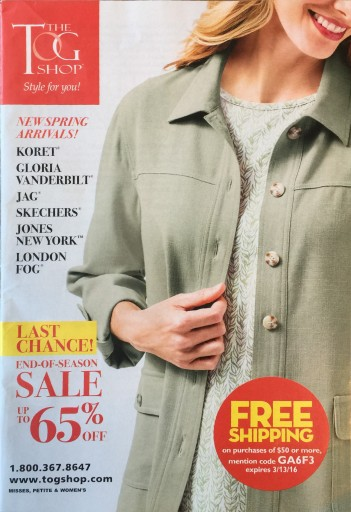 Media Scan for The Tog Shop Catalog Blow-in
