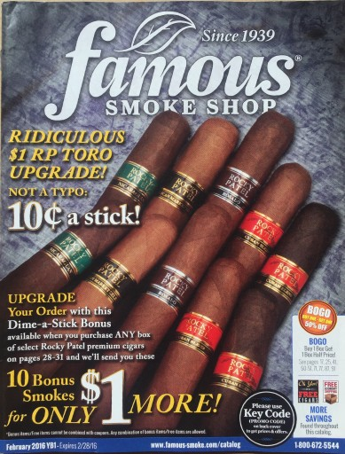 Media Scan for Famous Smoke Shop Blow-In