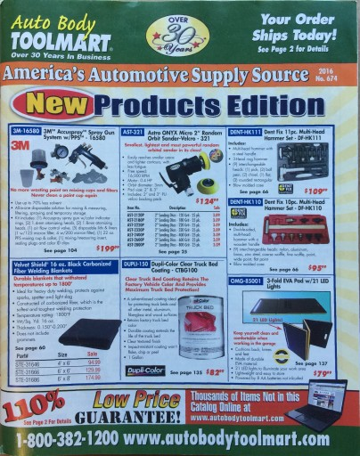 Media Scan for Auto Body ToolMart Catalog Blow-In