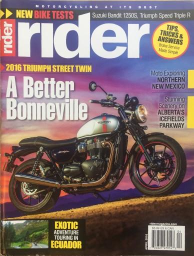 Media Scan for Rider Magazine