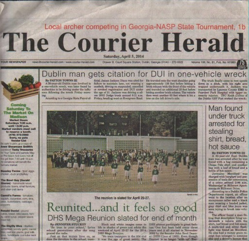 Media Scan for Dublin Courier Herald