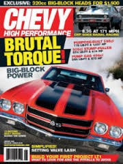 Media Scan for Chevy High Performance