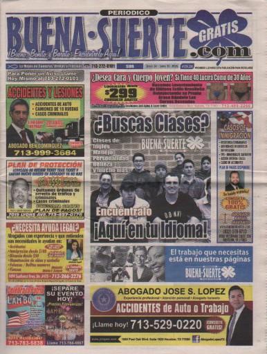 Media Scan for Buena Suerte - Houston