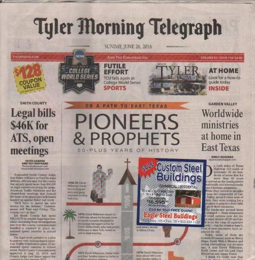 Media Scan for Tyler Morning Telegraph