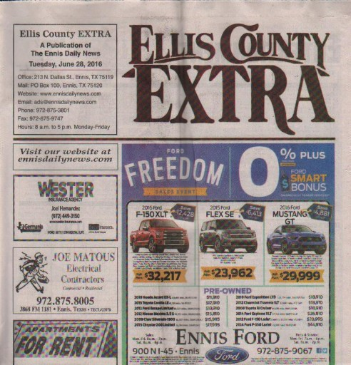 Media Scan for Red Oak North Ellis County Chronicle