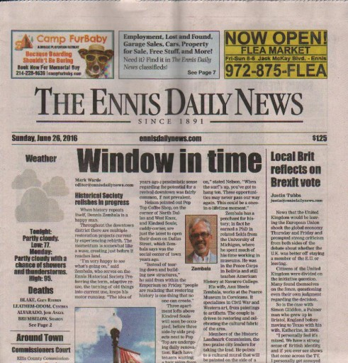 Media Scan for Ennis Daily News