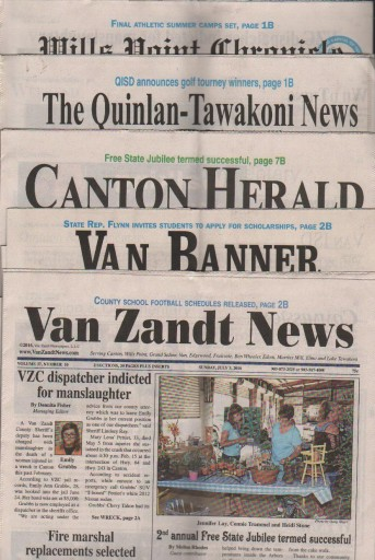 Media Scan for Van Zandt Newspapers LLC