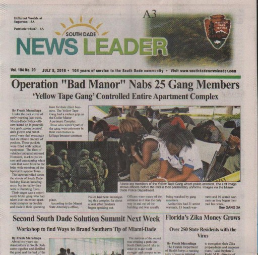 Media Scan for South Dade News Leader
