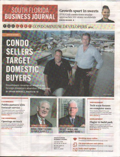 Media Scan for South Florida Business Journal