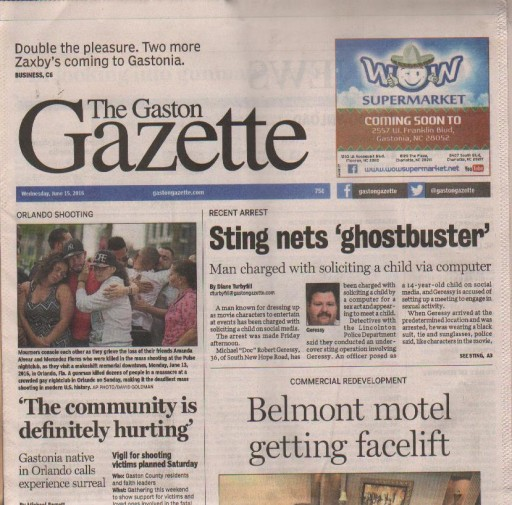 Media Scan for Gastonia Gaston Gazette