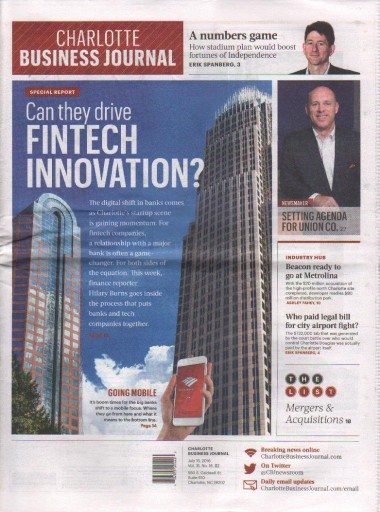 Media Scan for Charlotte Business Journal