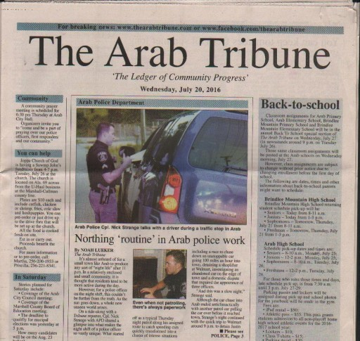 Media Scan for Arab Tribune and Metro
