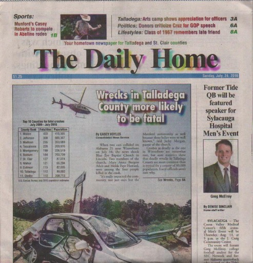 Media Scan for Talladega Daily Home