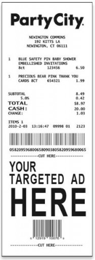 Media Scan for Party City Receipt Program