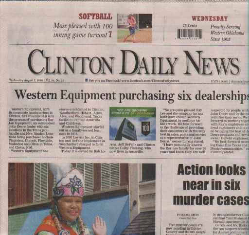 Media Scan for Clinton OK Daily News