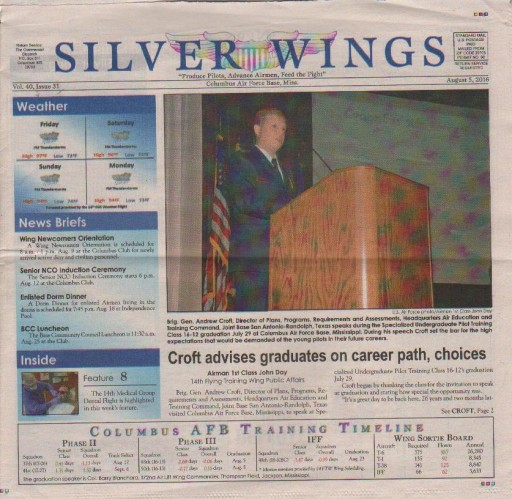 Media Scan for Columbus AFB Silver Wings