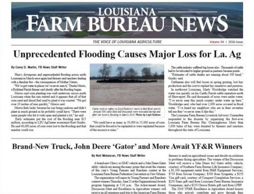 Media Scan for Louisiana Farm Bureau News