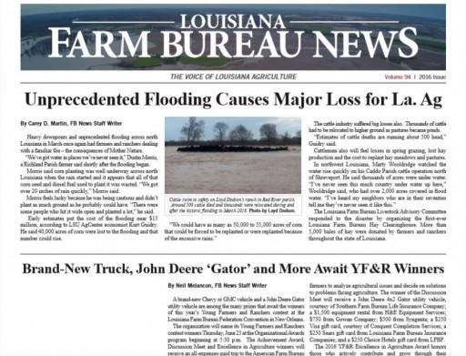 Media Scan for Louisiana Farm Bureau News