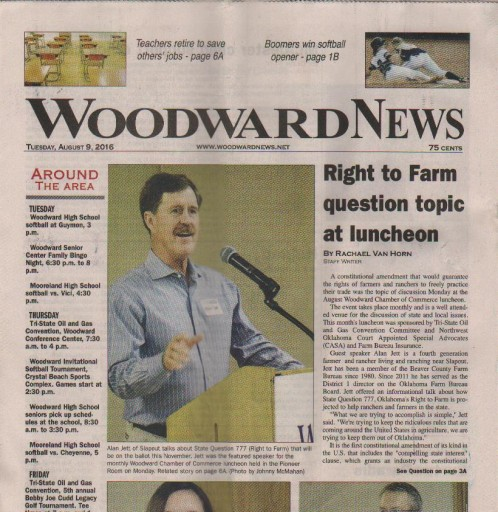 Media Scan for Woodward News