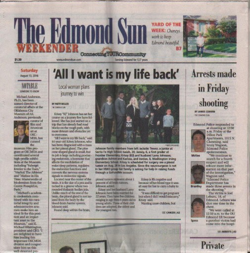 Media Scan for Edmond Evening Sun