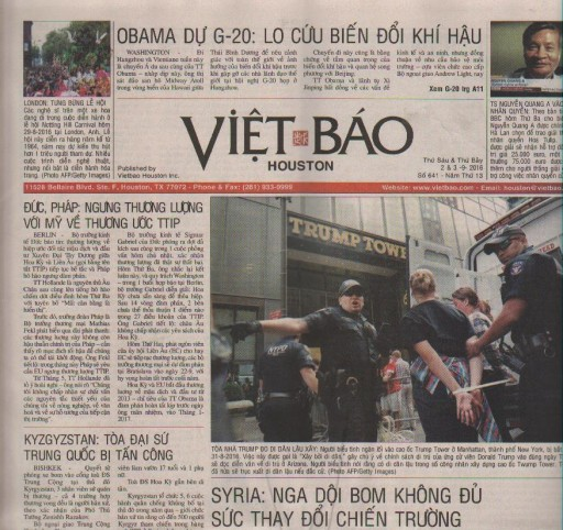 Media Scan for Viet Bao - Houston