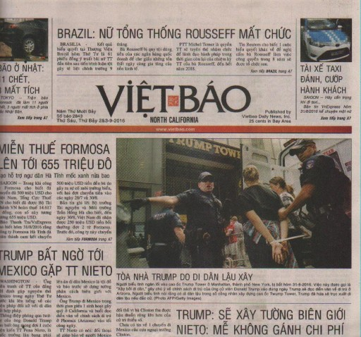 Media Scan for Viet Bao - San Jose