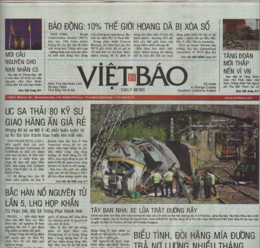 Media Scan for Viet Bao - Los Angeles