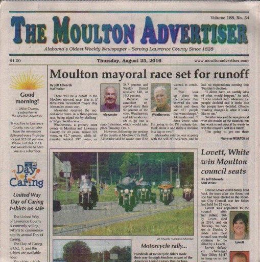 Media Scan for Moulton Advertiser