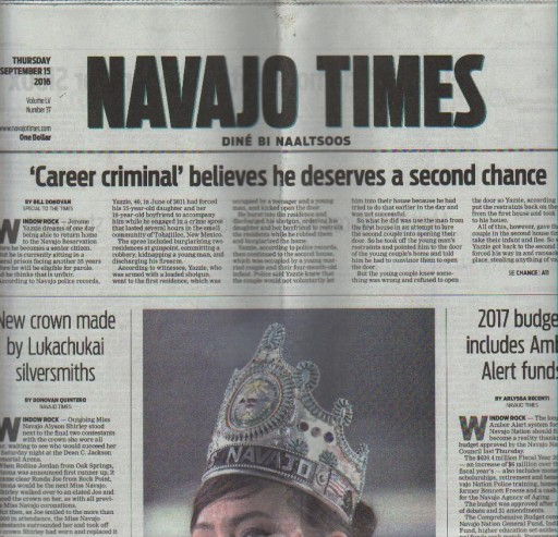 Media Scan for Navajo Times