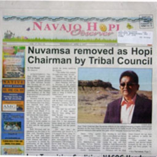 Media Scan for Navajo Hopi Observer