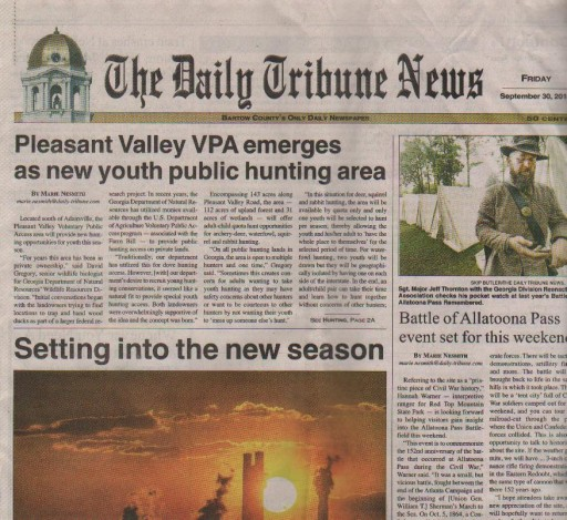 Media Scan for Cartersville Daily Tribune News